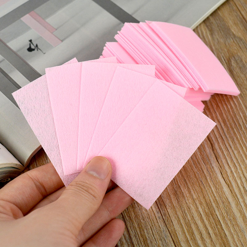 100pcs Cotton Nail Art Tips Polish Remover Cleaner Wipes Lint free Pink(China (Mainland))
