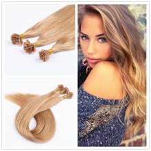 Pre-Bonded Hair Extension U Tip Keratin Glue Nail Tip Hair Extension Silky Straight 0.5g/s 50s