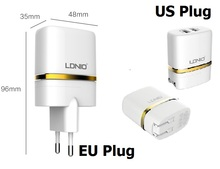 Original 2.1A white Dual 5V USB US Plug Home Charger Travel Charger For iPhone 5 6 iPad iPod Samsung Sony Lg cell phone