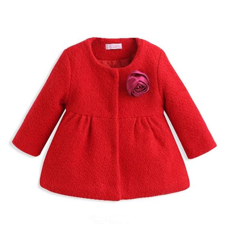 Female child woolen outerwear 2015 children baby cardigan medium-long female child wool coat<br><br>Aliexpress