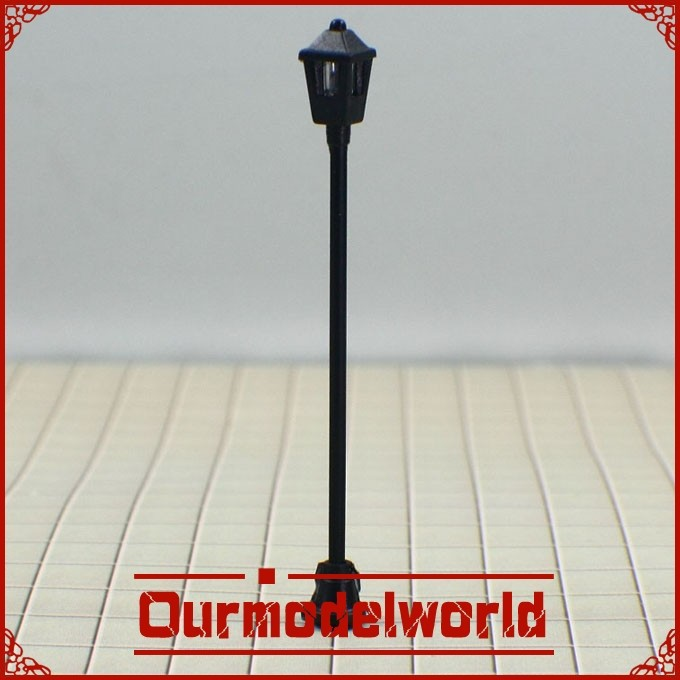 free shipping 100PCS 6V Scale Train Layout Model Lampposts Lamp Lights T1(China (Mainland))