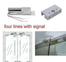 Buy Free,lock kit,4 lines Electric Bolt Lock signal +bracket,used frameless glass door,sn:kit-801s,min:1lot for $42.00 in AliExpress store