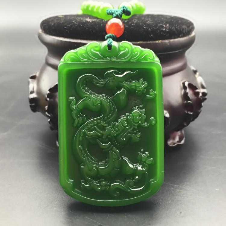 Jade and nephrite jade Health Xiaolong Yu brand jade dragon jade pendant male models56(China (Mainland))