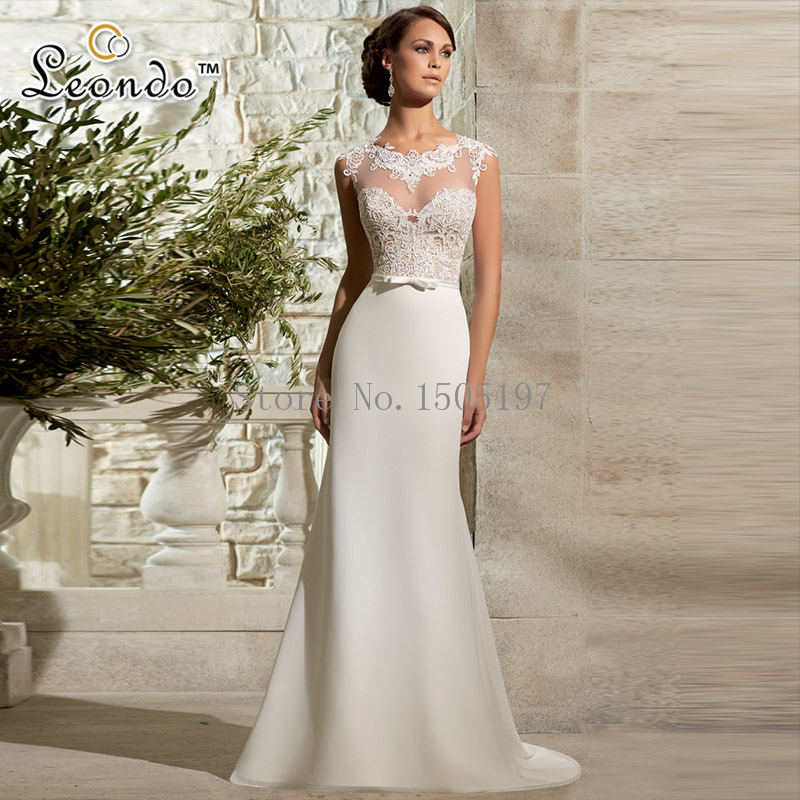 Gallery For Sheath Wedding Dress Chiffon