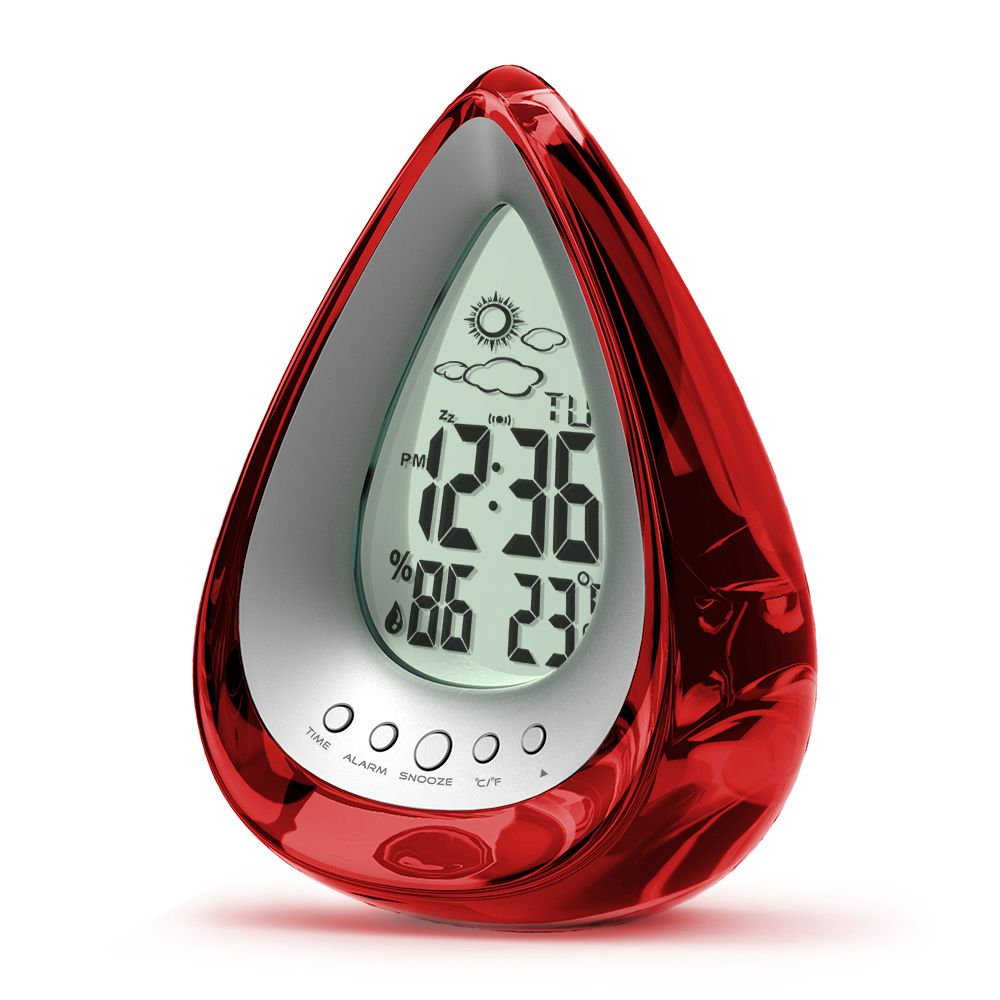 Round shaped water powered clock