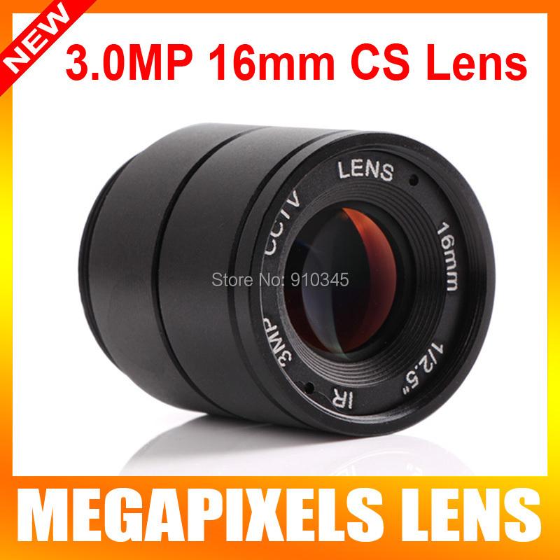 "IP Camera Lens 1/2.5"" HD 3 Million Pixels CS 16mm Lens F1.4 Fixed Iris 26.5 Degree Infrared/IR For CVI/AHD/SDI Camera M.O.D 0.2m(China (Mainland))"