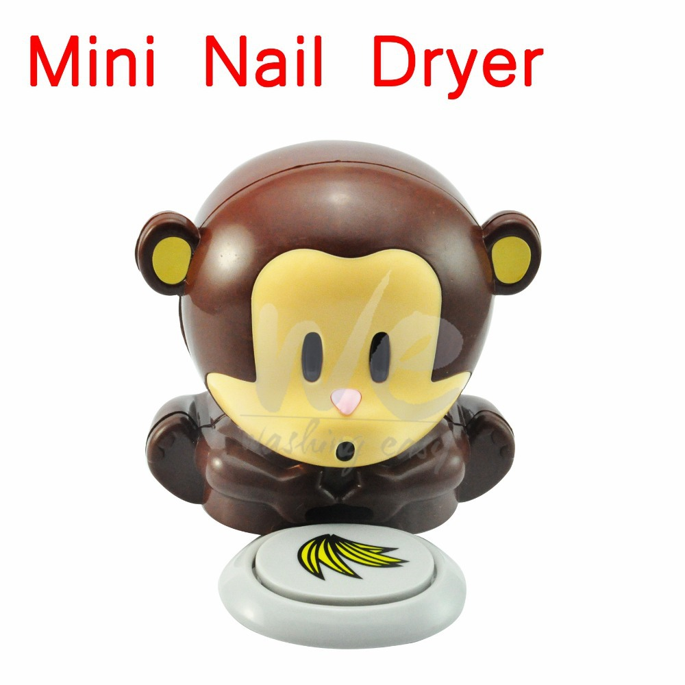 Mini Cute Monkey Manicure Nail Dryers Polish Blower Dryer Nails Dry Machine Tool #LR394(China (Mainland))