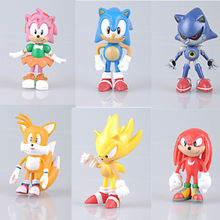 POP 6pcs LOT The Hedgehog Super Sonic Characters PVC Figure Toys Loose Set LCJ6(China (Mainland))