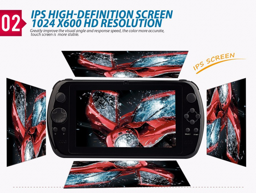 "NEW GPD Q9 GamePad Game Tablet PC RK3288 7"" Android 4.4 Quad Core Game Handheld Console 2GB/16GB 3D Game Player 0.3MP Camera"