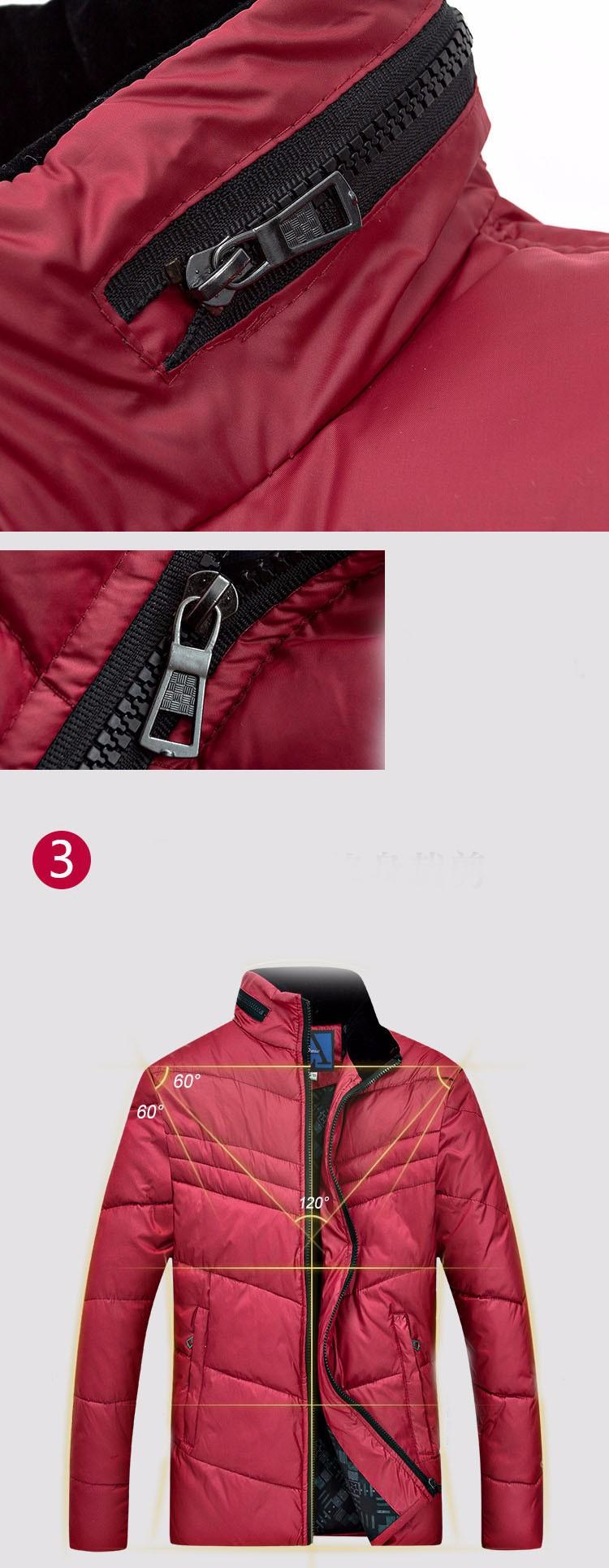 Скидки на Новый 2016 Пиджаки Высокое качество карман зимняя куртка моды для мужчин среднего возраста молния стоять воротник Вниз и Парки мужская пальто