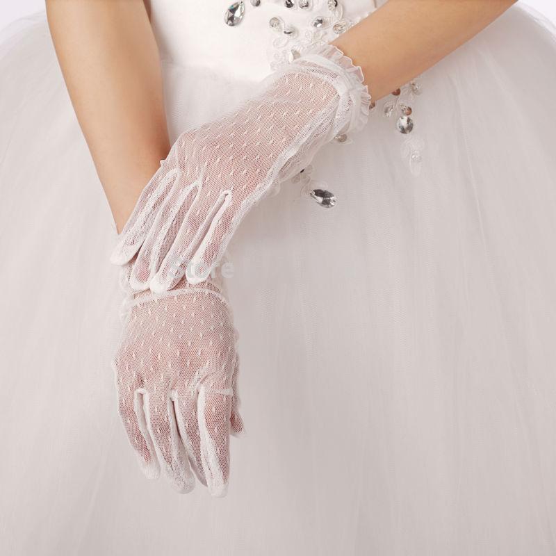 Черные свадебные перчатки 2015