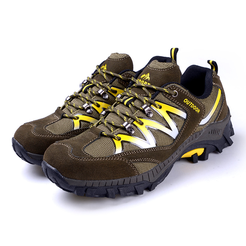 2015 Fashion Men women Hiking shoes outdoor sports Genuine leather lovers 35-44 chn size 3 color - DFKC FASHION store