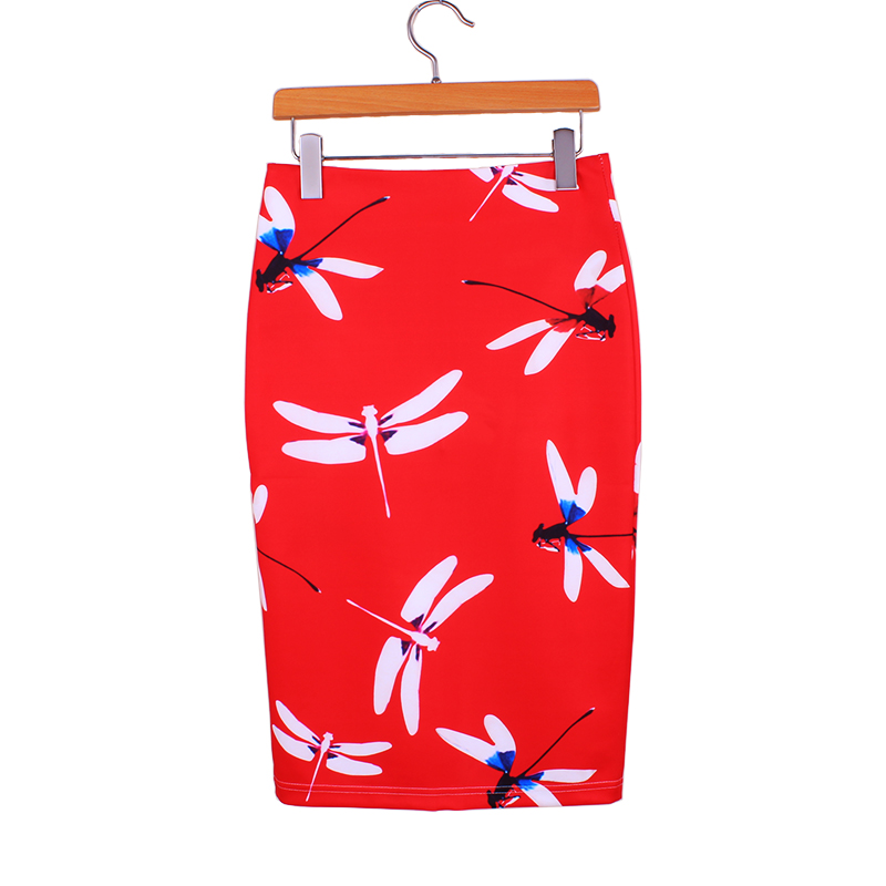 Free shipping M-XL women red pencil skirts 2016 Western fashion girls slim faldas vogue ladies new casual bottoms wholesale(China (Mainland))