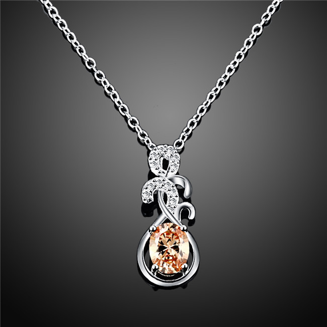 aliexpress buy 925 silver flower pendant necklace
