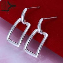 Buy Free Shipping!!Wholesale Silver Plated Earring,Wedding Jewelry Accessories,Fashion Silver Long Square Earrings Women for $1.07 in AliExpress store