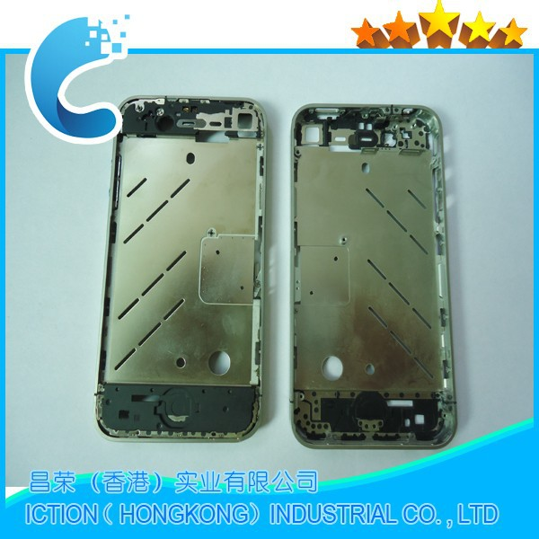 Mobile Phone Middle Frame for iPhone 4 iPhone 4G Plating Midframe Bezel Plate Chassis(China (Mainland))