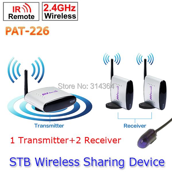 1 Transmitter to 2 Receiver PAT-226 EU/US/AU/UK Adapter Smart 2.4GHz Wireless 150m AV Sender TV Audio Video Transmitter Receiver(China (Mainland))
