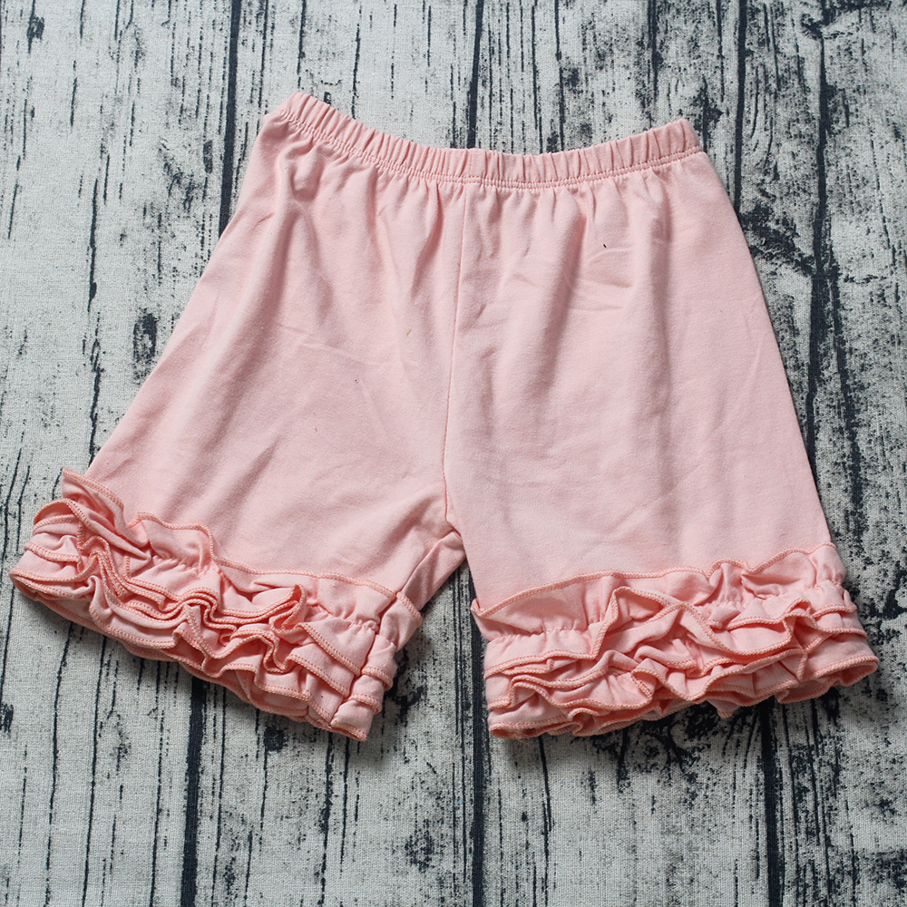 LPZIHJY 6M-10T girls shorts summer cotton solid ruffle shorts girl elastic waist toddle icing shorts for kids