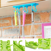 Kitchen Utensils Rack Holder Hook Ceiling Wall Cabinet Hanging Storage Organizer Foldable(China (Mainland))