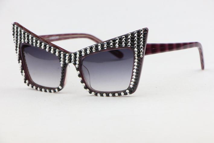Плита Рама унисекс солнечные очки 11060202 элегантный милый Cat глаз рамка градиент объектив мода диких Анти-УФ 400