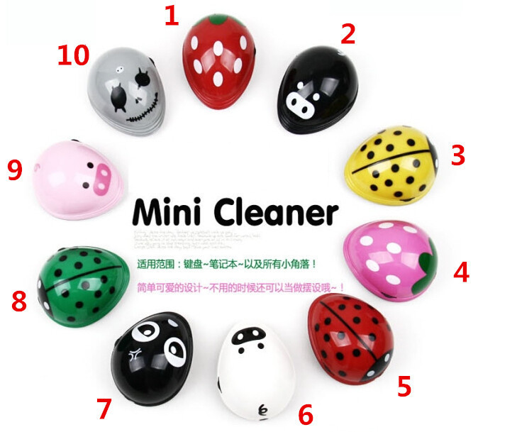 Cute Lovely Portable Cartoon Electric Battery Operated Desktop Vacuum Cleaner Mini Dust Cleaner(China (Mainland))