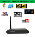 Q68 4K Android tv box Octa core ott tv box media player RK3368 android tv box