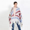 Viscose Flower Print Shawl Blanket Scarf Wrap Winter Cashmere Scarf Women Vintage Star Split Shawl Ponchos and Capes