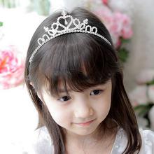 New Fashion Cute Rhinestone Princess Kids Girls Crystal Wedding Crown Headband Tiara(China (Mainland))