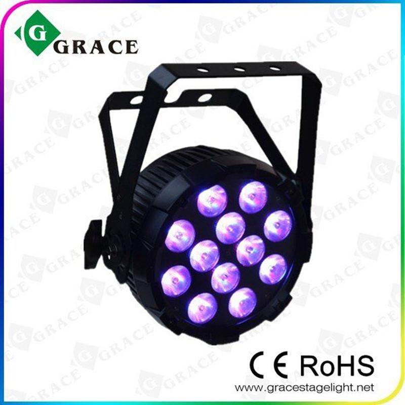 HOT 12*15W Led Par Dj Light RGBWA UV 6in1 DMX512 Led Par Can Stage Professional Lighting(China (Mainland))