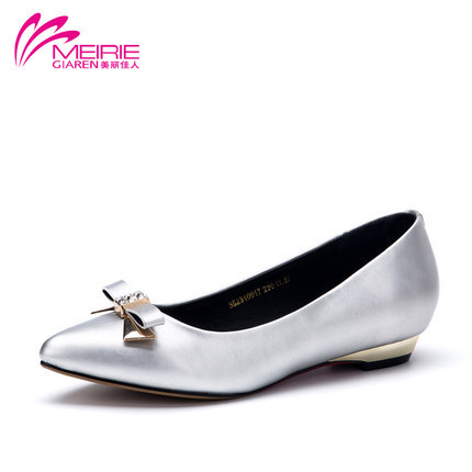 AOKANG 2015New Arrival  Ladies Casual Flat Heel Bow Knot Sweet and Charming<br><br>Aliexpress