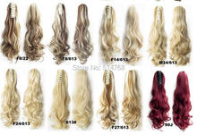 Free shipping  22″ 55CM Synthetic Long Lady Wowen Curly Wavy Claw Clip Ponytail Pony Tail Hair Extension