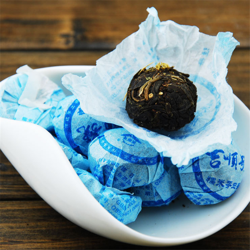 Glutinous rice Raw Mini Pu er Tea Sweet Small Bowl Packing Yunna China Green Food Slimmingn