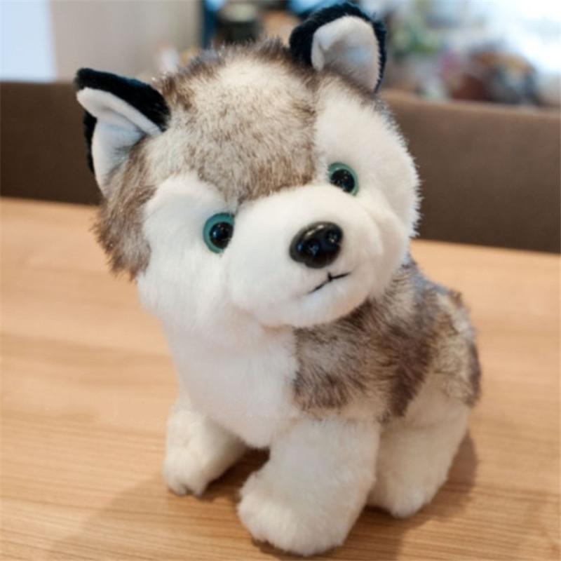 Stuffed Animal Husky Dog Dolls Plush Animal Toys Good Friend Partner for Kids Lovely Dolls Birthday Party Doll Gifts 18*12cm(China (Mainland))