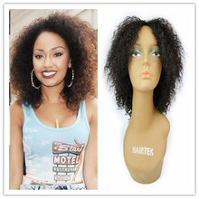 Peruvian Virgin Afro Kinky Wig Short Curly Hair 150 Density 100% Human Hair Glueless Kinky Curly Wigs For Black Women(China (Mainland))