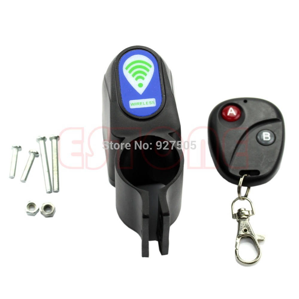 2015 newest Bicycle Cycling Wireless Remote Control Vibration Alarm Anti-theft Security Lock free shipping(China (Mainland))