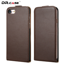 DR.CASE Fashion Vertical Flip Style For iPhone 7 Genuine Leather Case Cover For Apple Retro Holster For iPhone 7 Phone Coque(China (Mainland))