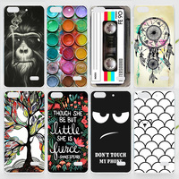 Case For Huawei Honor 4C Colorful Printing Drawing Plastic Hard Cover for Honor 4C Fashion Transparent Phone Cases