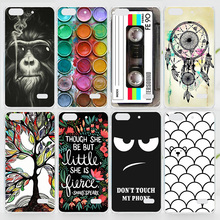 Case For Huawei Honor 4C Colorful Printing Drawing Plastic Hard Cover for Honor 4C Fashion Transparent Phone Cases(China (Mainland))