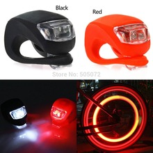 A5 Free Shipping 2pcs/Lot Silicone Bike Bicycle Cycling Head Front Rear Wheel LED Flash Light Lamp L0714  P