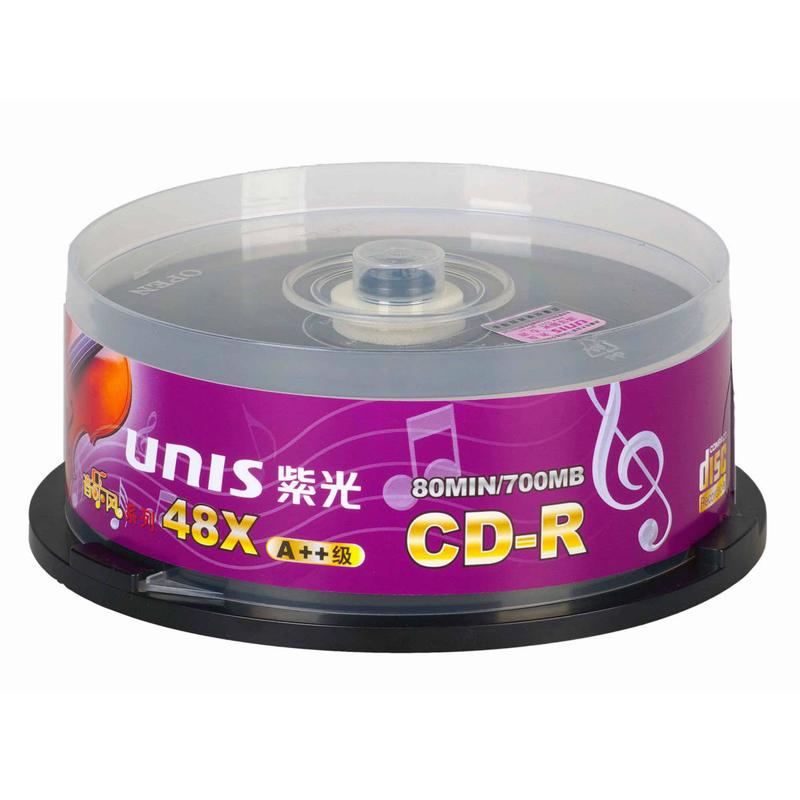 UNIS music windmills used car vinyl cd-r blanks burn music CD disc copy CD disc plate 700MB 48X 12cm 25pcs/lot(China (Mainland))