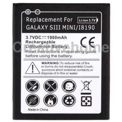 1900mAh Replacement Battery for Samsung Galaxy S3 mini/ i8190