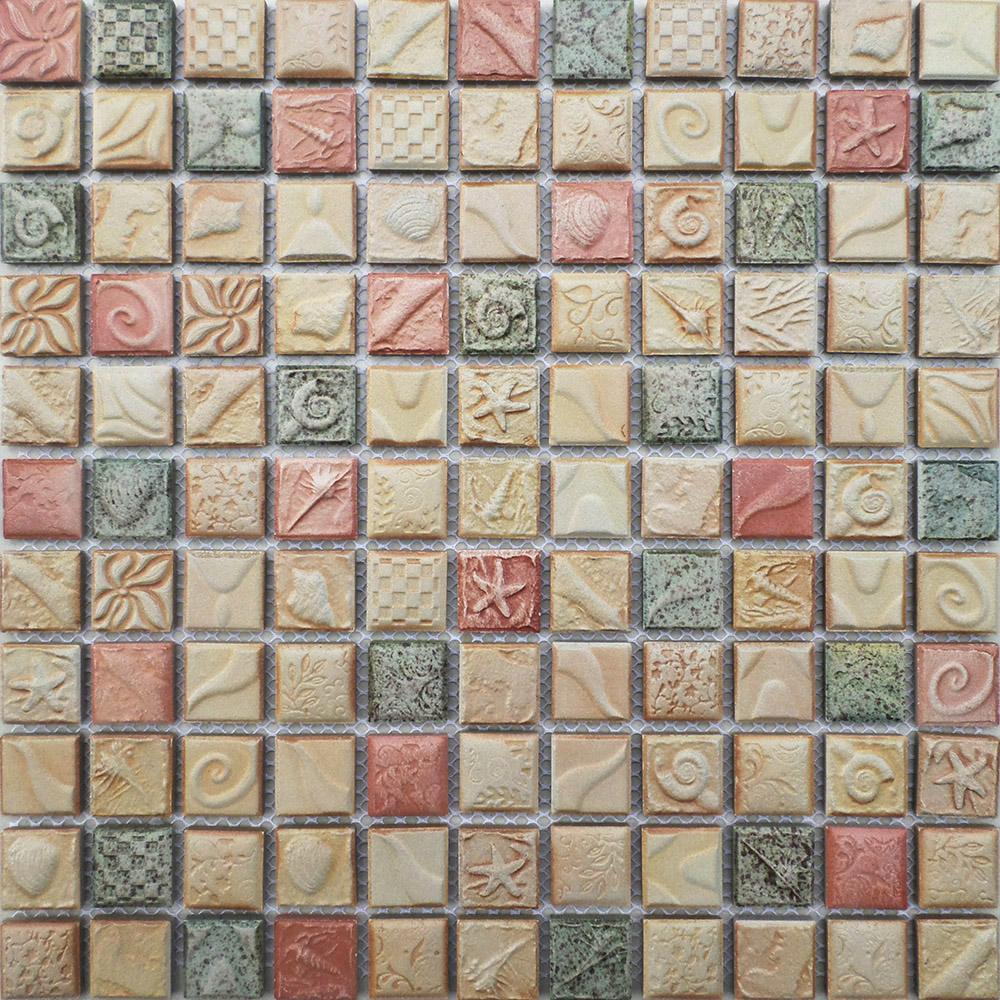 Acquista all 39 ingrosso online ceramica mosaico di arte da for Piastrelle bagno rosa antico