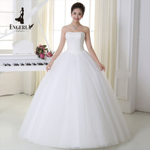 ENGERLA New Pregnant Wedding Dress Sex Vintage Bridal Ball Gown With Sparkle Sequins Lace Edge Party Dress