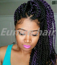 Eunice Brand Havana Mambo Twist Box Braids Hair Extensions Hot Sale Colored Crochet Braids Synthetic African Hair Braiding