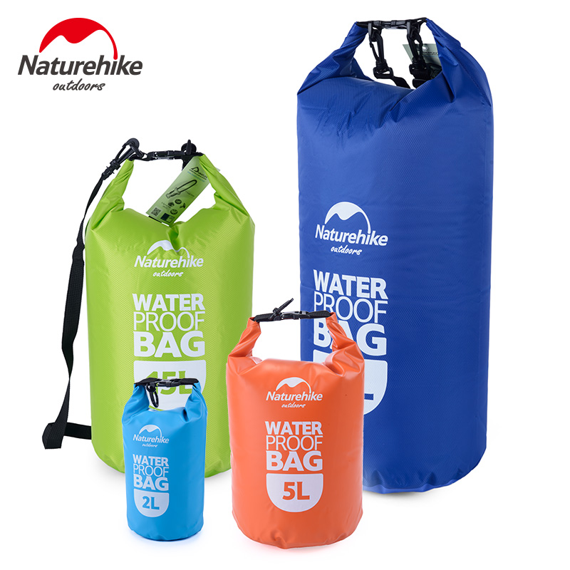 Naturehike Outdoor PVC Waterproof Dry Sack Storage Bag Rafting Sports Kayaking Canoeing Swimming Bag 2L 5L 15L 25LTravel Kits(China (Mainland))