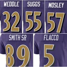 Men's Joe Flacco 5# C.J. Mosley 57# Steve Smith Sr 89# Eric Weddle 32# Terrell Suggs 55# Purple Color Rush Limited Jersey(China (Mainland))