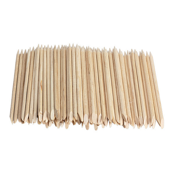 20pcs/lot the Wooden Chopsticks and the Orange Wood Sticks Repousser Cuticule Tool Nagelriem Pusher Manicure Stick Nail Stick(China (Mainland))