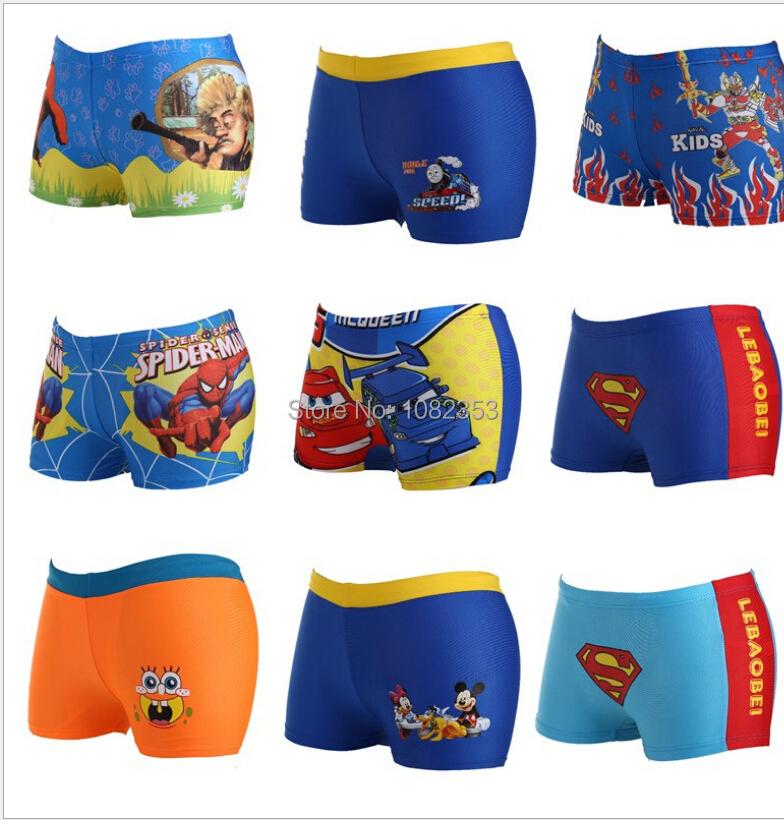 2015 new spride man hero bird design baby swim strucks cartoon boys swim shorts children swim clothes baby swim pants(China (Mainland))