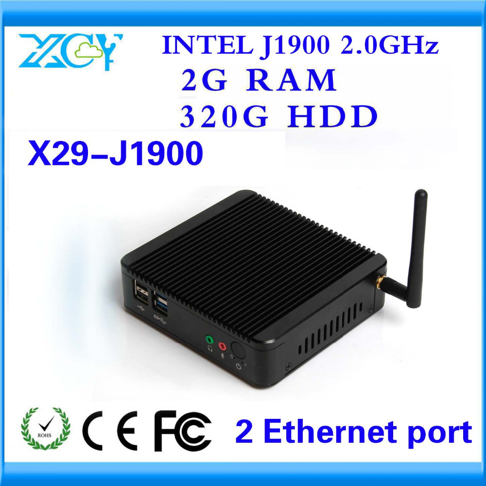 XCY Mini PC Quad Core Factory competitive price CPU J1900 2G RAM AND 320G HDD support Linux OS Ubuntu smaller space MNI COMPUTER(China (Mainland))