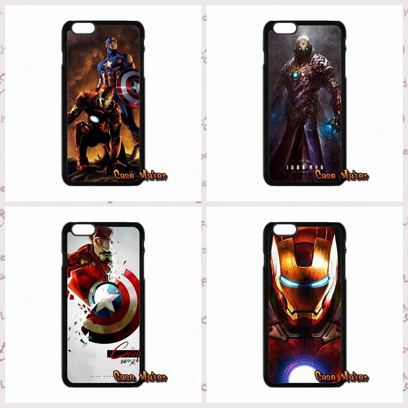 For iPhone 4 4S 5 5C 5S 6 6S Plus LG G2 G3 G4 HTC One M7 M8 iPod Touch 4 5 Iron Man The Avengers Comic Print phone case cover(China (Mainland))